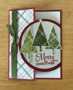 Stampin Up Handmade Christmas Card Special Fold By inside Homemade Christmas Cards 2017 33201 Homemade Christmas Cards, Stampin Up Christmas, Christmas Cards To Make, Xmas Cards, Homemade Cards, Handmade Christmas, Christmas Trees, Cards Diy, Christmas 2019