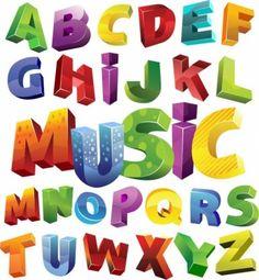 Colorful 3D Alphabet Vector Graphic