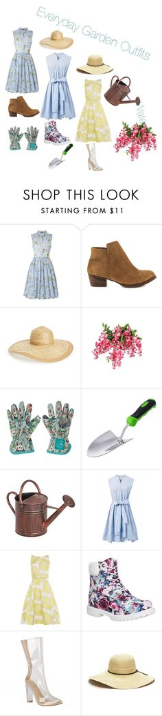 """""""Everyday Garden Outfits"""" by awesomearis ❤ liked on Polyvore featuring French Connection, Jessica Simpson, Nordstrom, Wild & Wolf, Handle, Panacea, Chicwish, Timberland and adidas"""