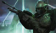 File:Infiltration of the Covenant Perimeter. Character Concept, Concept Art, Character Design, Odst Halo, Halo Spartan, Halo Armor, Halo Reach, Halo 5, Future Soldier
