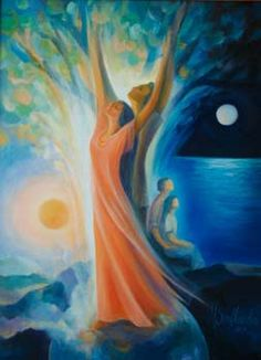 The best love is the kind that awakens the soul and makes us reach for more. Spiritual Paintings, Flame Art, Couple Painting, Pagan Art, Twin Souls, Divine Mother, Religion, Catholic Art, Archetypes