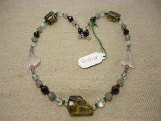 "Natural Multi Stone Multi Shape Faceted 17"" Beads Fancy Necklace, 209.5 Cts…"