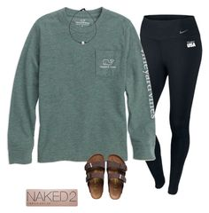 """""""Untitled #216"""" by realaddietude ❤ liked on Polyvore featuring NIKE, Birkenstock and Urban Decay"""