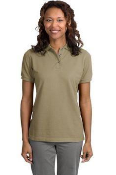 Port Authority Ladies Short Sleeve Cotton Pique Knit Sport Shirt Polo