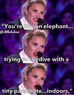 Demi mocking Simon on X Factor