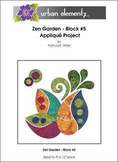 Zen Garden - Block #5 - Applique Pattern