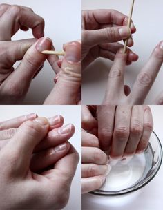 Simplified at-home manicure tutorial. I'd need to schedule out a good spa day for this, but I'm sure it'd be worth it!