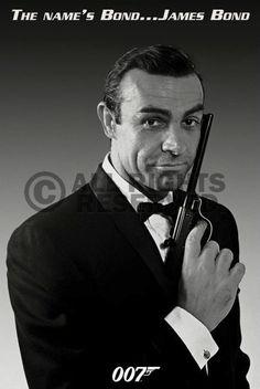 Poster: James Bond - the name's bond online te koop. Bestel je poster, je 3d filmposter of soortgelijk product Maxi Poster
