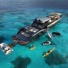 Luxury yacht design interior trip sailing and having private party on super mega boat life style for vacation and wedding on deck with style ond model of black and etc Yacht Design, Super Yachts, Grand Luxe, Yacht Interior, Interior Design, Cool Boats, Small Boats, Billionaire Lifestyle, Yacht Boat