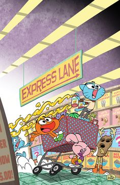 THE AMAZING WORLD OF GUMBALL #5 Retail Price:$3.99 Author: Frank Gibson Artist: Tyson Hesse Cover Artists: A. Missy Pena B. Jay Fosgitt C. Drew Green (INCENTIVE) Gumball finally has the best plan, the greatest plan, really, the ONLY plan that he will ever need again! There is only one way to guarantee that he will be the coolest kid that ever was and that is...dramatic entrances?!