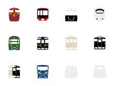 九州マップ&列車アイコン | マップ・アイコン制作 / 婦人画報