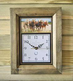 The Handmade Furniture Company Rustic Shire Horse Handmade Wooden Wall Clock, £19.99