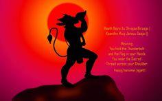 Happy Hanuman Jayanti Lord hanuman Wallpapers Hd Download available at Hdwallpapersz.net