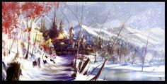 Snowscape by ArtofTy.deviantart.com on @deviantART