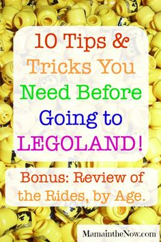 """Ten Tips and Tricks You Need Before Going to Legoland! A family of four boys who have """"been there, done that"""" at LEGOLAND share their experience. You need to read this article before you go!"""