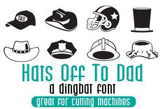 Silhouette Design Store: Hats Off To Dad Doodlebat Dingbat Fonts, Banner, Star Wars, Script Logo, Premium Fonts, All Fonts, Dad Hats, Letter Logo, Business Brochure