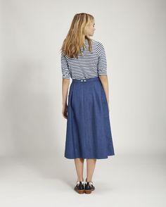 Home Linen Stripe Tee in Jersey And Tees / TOAST