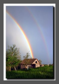Saw a double rainbow today, 7-7-13
