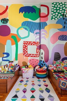 Home And Deco, Kids Decor, Decoration Crafts, Decor Ideas, Wall Murals, Mural Art, Wall Art, House Colors, Kids Bedroom