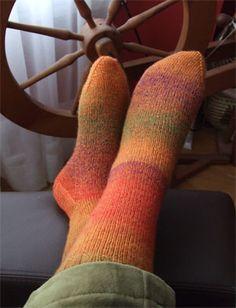 YarnHarlot's Orange Socks