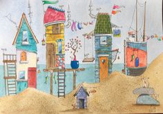 Beach huts on eBay