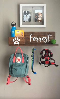 Dog Storage, Stuffed Animal Storage, Animal Room, Dog Station, Puppy Room, Dog Organization, Dog Leash Holder, Dog Rooms, Mellow Yellow