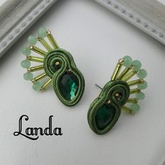 Fabric Jewelry, Earrings, Jewellery, Diy Kid Jewelry, Soutache Jewelry, Stud Earrings, Ear Rings, Jewels, Ear Piercings