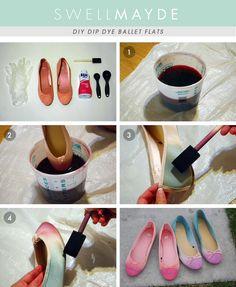 Como pintar tus zapatos de 2 colores super facil