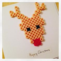 Christmas card hama beads by redcherryrock