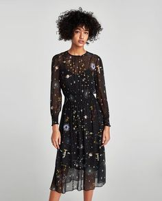 ZARA - WOMAN - PRINTED MIDI DRESS