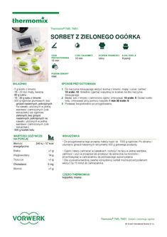 thermomix - Sorbet z zielonego ogorka Sorbet, Make It Simple, Names, Author, How To Make, Cooking, Food, Thermomix, Ice