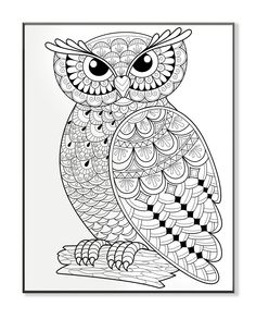 DIY Coloring Wall Plaque Wise Owl On A Log Graphic Art