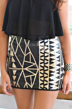 Rise and Shine Mini Skirt