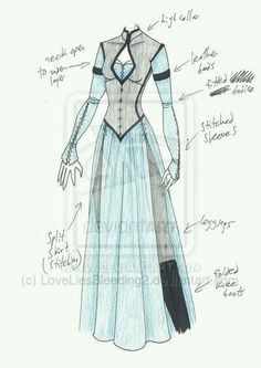 MHcd - Reconnaissance by costuming sketch dress with slits, pants underneath Dress Drawing, Drawing Clothes, Mode Inspiration, Character Inspiration, Costume Steampunk, Poses References, Illustration Mode, Fantasy Dress, Fantasy Clothes