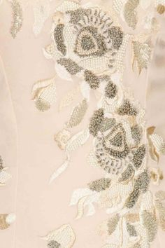 Pale pink floral applique work dress available only at Pernia's Pop-Up Shop