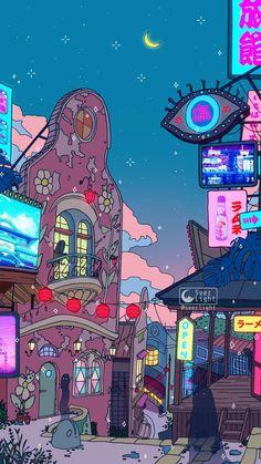Anime Aesthetic Wallpaper Spirited Away Wallpaper Sky, Trippy Wallpaper, Anime Scenery Wallpaper, Aesthetic Pastel Wallpaper, Cute Anime Wallpaper, Cartoon Wallpaper, Aesthetic Wallpapers, Iphone Wallpaper, Chill Wallpaper