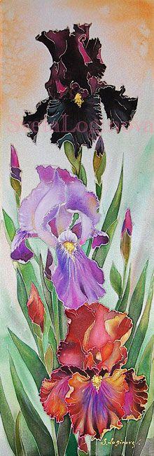Svetlana Loginova  -  Bearded Irises batik