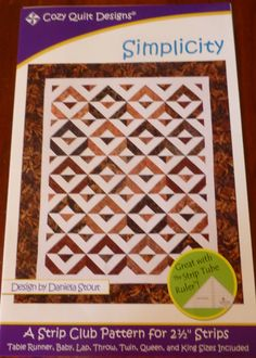Pattern Simplicity Designed for 2 and a Half Strips Cozy Quilt Design