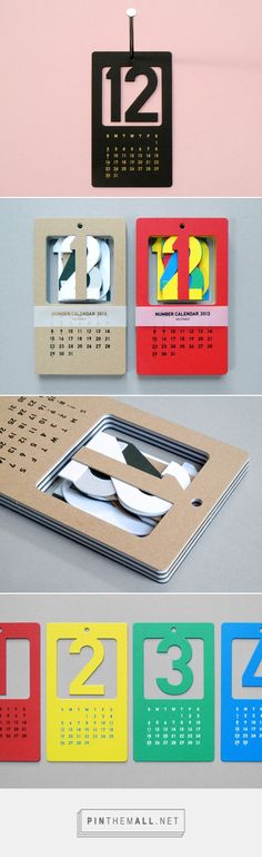 Present&Correct - Cut Out Numbers Calendar - created on Graphic Design Cv, Print Design, Layout Inspiration, Packaging Design Inspiration, Table Calendar Design, Book Design, Layout Design, Kalender Design, Creative Calendar