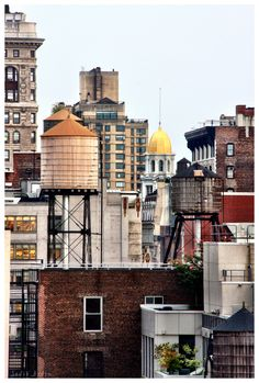 New York City Rooftop Water Tanks