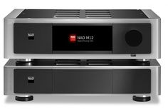 NAD Masters Series M12 Preamp and M22 Stereo Power Amplifier - Front View