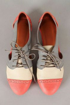 Four color oxford shoes