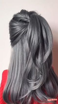 Hair Up Styles, Medium Hair Styles, Easy Hairstyles For Long Hair, Side Ponytail Hairstyles, Fast Hairstyles, Hairstyles Videos, Hair Videos, Hair Hacks, Hair Inspiration