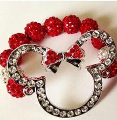 Cute Minnie mouse bracelet.