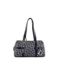 Dior Navy Monogram Canvas Shoulder bag - LOVE that BAG - Preowned Authentic Designer Handbags - $375 CAD