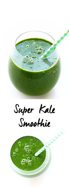 Super Kale Smoothie – The healthiest smoothie that will kick start any day. Made… Super Kale Smoothie – The healthiest smoothie that will kick start any day. Made with kale, celery and almond milk. This smoothie is vegan and gluten-free. Healthy Green Smoothies, Raspberry Smoothie, Apple Smoothies, Easy Smoothies, Healthy Drinks, Healthy Juices, Breakfast Smoothies, Diet Breakfast, Healthy Treats