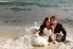 {Destination Wedding} Trash the Dress   Oahu Wedding Planner Destination wedding idea Repinned by Moments Photography www.MomentPho.com