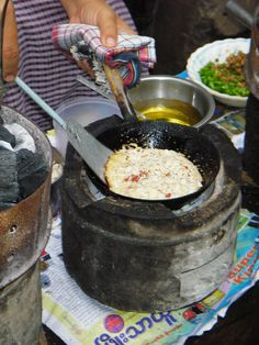 ~Yangon Almond Pancake with Honey-Lime Syrup Recipe~