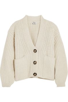 57a68f24fd Acne Studios Hadlee Oversized Wool-blend Cardigan - Off-white - ShopStyle