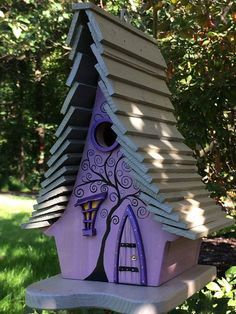 "ArtisTree ""Dusk"" Bird House Source by etsy"